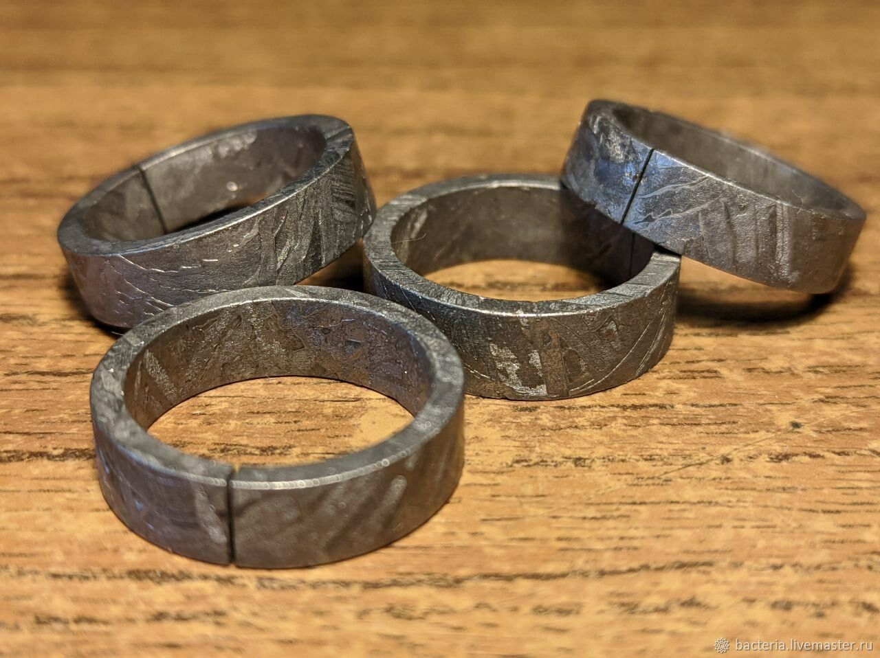 Кольцо из железного метеорита Алтай, с прорезью, Кольца, Ярославль,  Фото №1