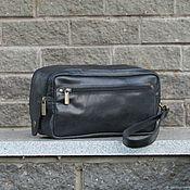 Сумки и аксессуары handmade. Livemaster - original item Men`s travel leather travel bag black. Handmade.