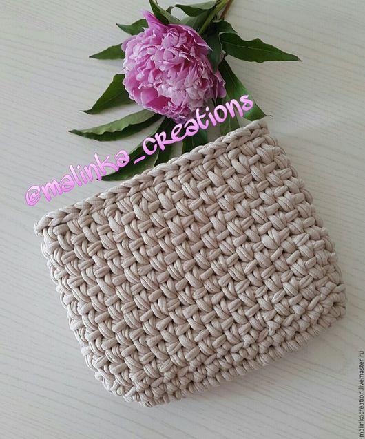 Вязаная косметичка Beige Cosmetic bag от Malinka_Creations
