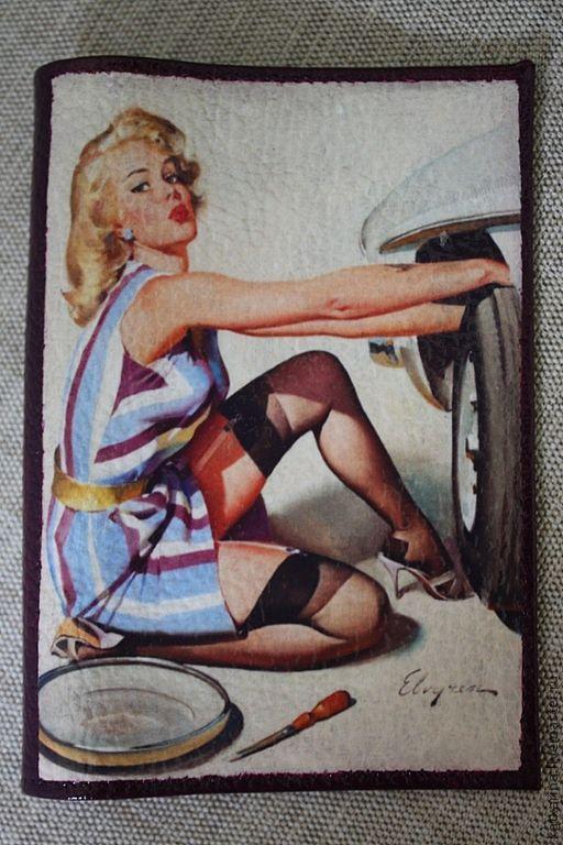 """Обложки ручной работы. Ярмарка Мастеров - ручная работа. Купить Обложка на автодокументы или паспорт """"Блондинка"""". Handmade. Обложка на паспорт"""