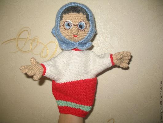 Кукольный театр ручной работы. Ярмарка Мастеров - ручная работа. Купить Кукла- перчатка. Бабушка Клава. Handmade. Вязанные игрушки