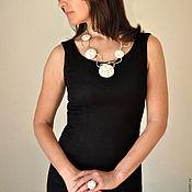 "Украшения handmade. Livemaster - original item Necklace from the series ""Dandelions"", porcelain, silver.. Handmade."