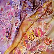 Аксессуары handmade. Livemaster - original item Hand-painted scarf