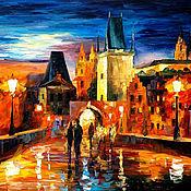 Картины и панно ручной работы. Ярмарка Мастеров - ручная работа Вечерняя Прага. Handmade.
