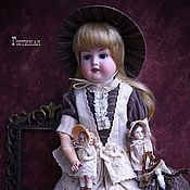 Куклы и игрушки ручной работы. Ярмарка Мастеров - ручная работа Инсталляция из антикварных кукол Гостиная. Handmade.