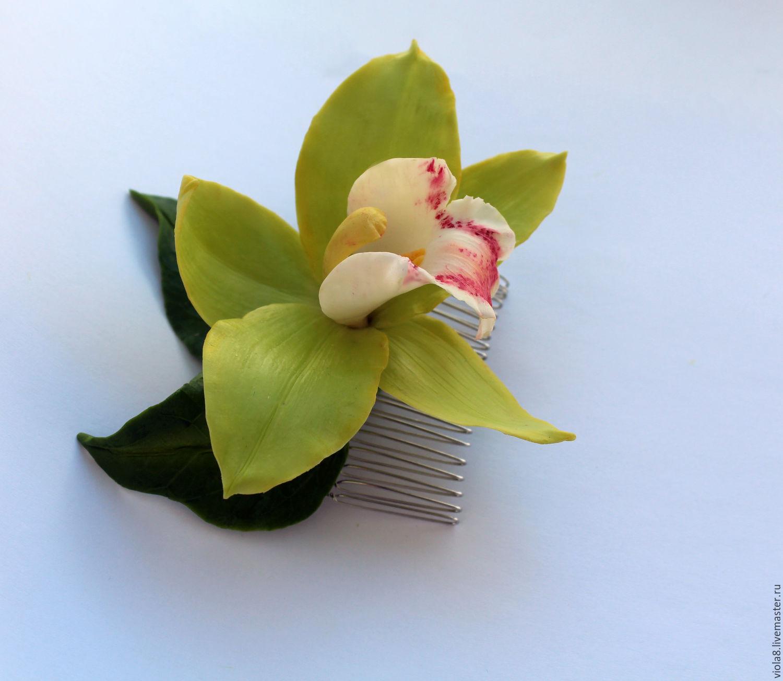 Цветы орхидеи из фоамирана фото