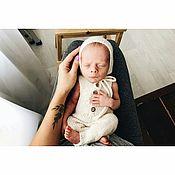 Комбинезоны ручной работы. Ярмарка Мастеров - ручная работа Комбинезон + шапочка для фотосессии новорожденного мальчика. Handmade.