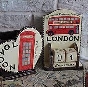 "Канцелярские товары ручной работы. Ярмарка Мастеров - ручная работа Набор ""LONDON 2"". Handmade."