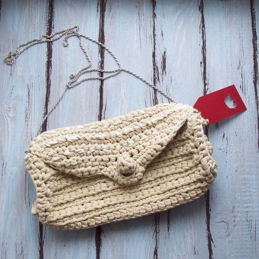 Женские сумки ручной работы. Ярмарка Мастеров - ручная работа. Купить Сумка-клатч. Handmade. Бежевый, 100% хлопок