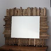 Зеркала ручной работы. Ярмарка Мастеров - ручная работа Зеркало WoodyMosaic #4. Handmade.