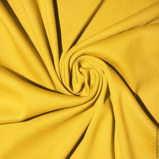 Шитье ручной работы. Ярмарка Мастеров - ручная работа. Купить Трикотаж рибана желтый MIU MIU. Handmade. Именная ткань