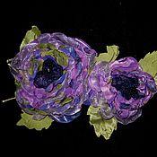 """Украшения ручной работы. Ярмарка Мастеров - ручная работа Ветка роз """"Фиолетовое настроение"""". Handmade."""