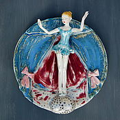 Картины и панно handmade. Livemaster - original item Girl on a balloon.Wall panel.. Handmade.