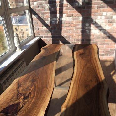 Для дома и интерьера ручной работы. Ярмарка Мастеров - ручная работа Стол река из ореха. Handmade.