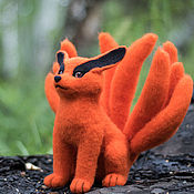 Куклы и игрушки handmade. Livemaster - original item Nine-tailed Fox ( Nine-tail demon fox Kurama ). Handmade.