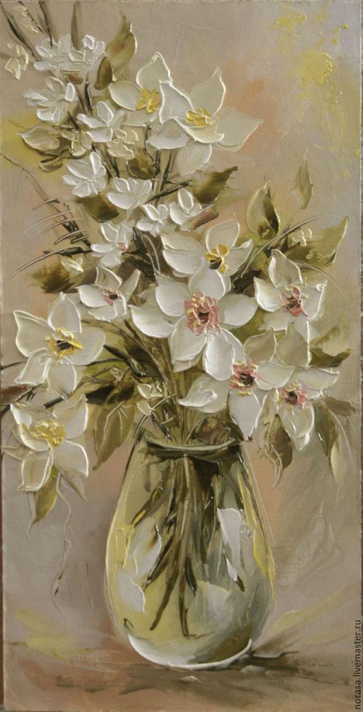 Картины цветов ручной работы. Ярмарка Мастеров - ручная работа. Купить Белые и нежные. Handmade. Комбинированный, картина в подарок