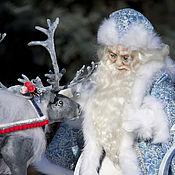 Куклы и игрушки handmade. Livemaster - original item Santa Claus and Reindeer. Handmade.