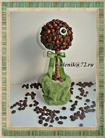 Деревья ручной работы. Ярмарка Мастеров - ручная работа. Купить Кофейное дерево. Handmade. Кофейное, дерево, подарок, интерьер, Декор