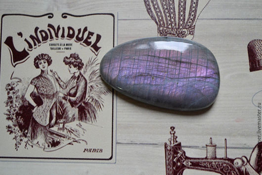 Для украшений ручной работы. Ярмарка Мастеров - ручная работа. Купить Лабрадорит спектролит. Кабошон 62 Х 37 Х 9. Handmade.