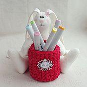 Куклы и игрушки ручной работы. Ярмарка Мастеров - ручная работа Зайка с красной корзинкой. Handmade.