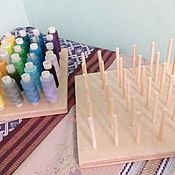 Материалы для творчества handmade. Livemaster - original item Stand for thread (36 colors). Handmade.