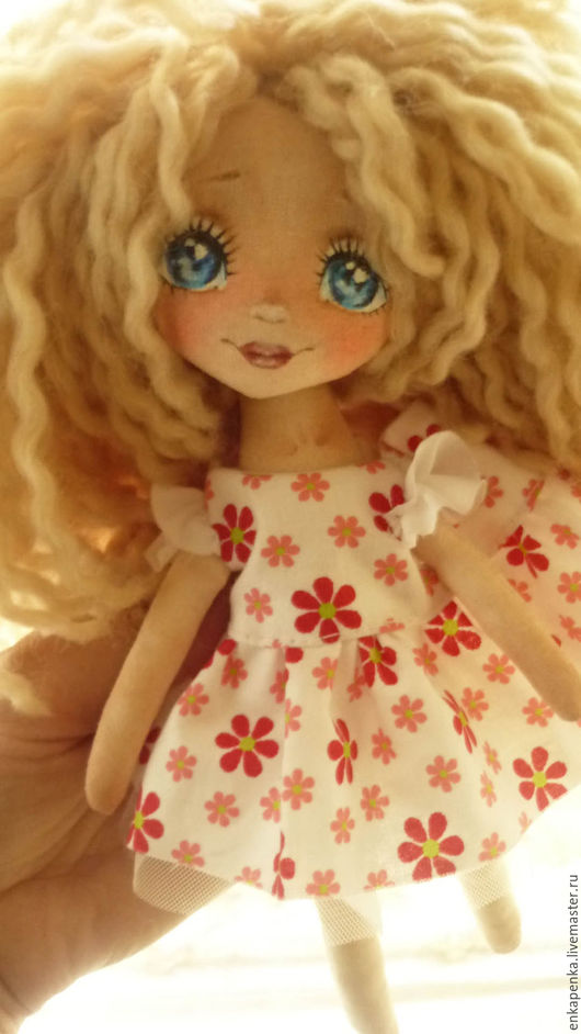 Коллекционные куклы ручной работы. Ярмарка Мастеров - ручная работа. Купить Текстильная кукла. Аленушка. Handmade. Комбинированный, шерсть