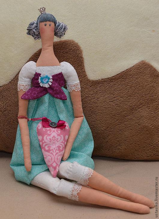 Куклы Тильды ручной работы. Ярмарка Мастеров - ручная работа. Купить Тильда Принцесса. Handmade. Бирюзовый, интерьерная игрушка