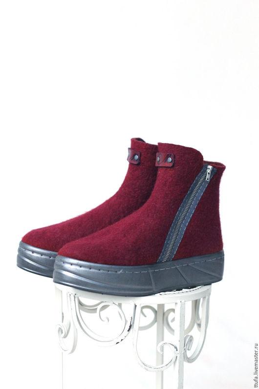 Обувь ручной работы. Ярмарка Мастеров - ручная работа. Купить Ботинки валяные