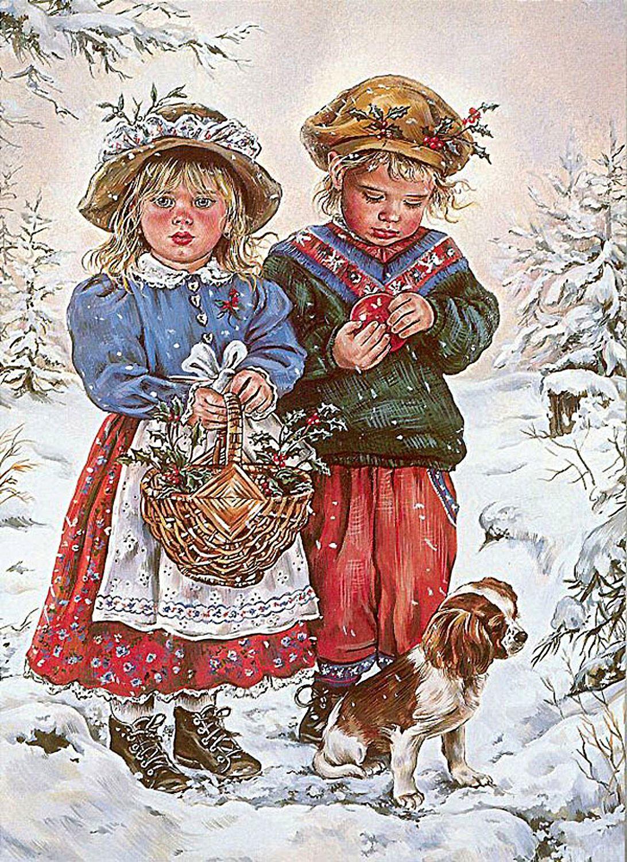 Днем рождения, рождественские почтовые открытки