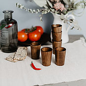 Посуда handmade. Livemaster - original item Set of wooden wine glasses (6#29. Handmade.