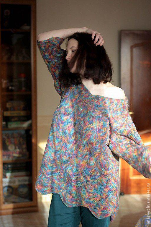 """Кофты и свитера ручной работы. Ярмарка Мастеров - ручная работа. Купить Пуловер """"Мохеровое конфетти"""". Handmade. Женский пуловер"""