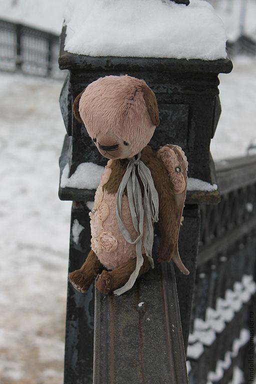 Мишки Тедди ручной работы. Ярмарка Мастеров - ручная работа. Купить Розовый Ангел. Handmade. Бледно-розовый, тедди медведи