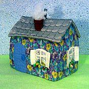 Для дома и интерьера ручной работы. Ярмарка Мастеров - ручная работа Грелка на чайник Домик. Handmade.