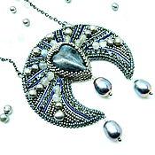 Субкультуры handmade. Livemaster - original item Lunnitsa silver amulet with a stone laurieton high Priestess. Handmade.