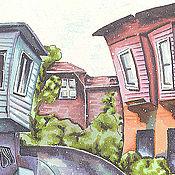 """Картины и панно ручной работы. Ярмарка Мастеров - ручная работа Картина """"Первый снег в Стамбуле"""". Handmade."""