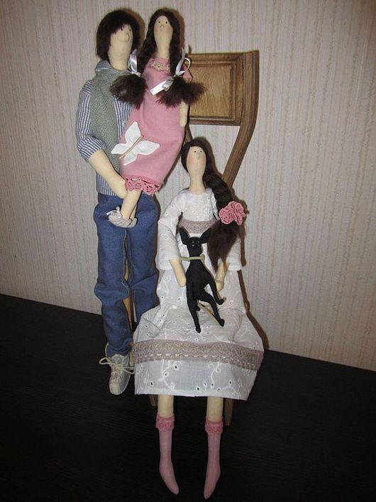 Куклы Тильды ручной работы. Ярмарка Мастеров - ручная работа. Купить Семья. Handmade. Портретная кукла, шерстяная пряжа