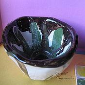 Посуда ручной работы. Ярмарка Мастеров - ручная работа Пиала СНежная керамическая ручной лепки. Handmade.