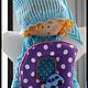 Куклы Тильды ручной работы. Ярмарка Мастеров - ручная работа. Купить Именной Ангелок для малыша. Handmade. Разноцветный, подвеска
