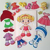 Куклы и игрушки ручной работы. Ярмарка Мастеров - ручная работа Девочка с одеждой (без липучек). Handmade.