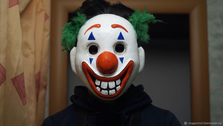 Joker Clown mask 2019 Joaquin Phoenix Batman, Subculture Attributes, Moscow,  Фото №1
