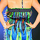 Dresses handmade. Order sundress 'Psychedelic'. Designer Lana Kmekich (lanakmekich). Livemaster. Custom-made clothing, tailoring to order
